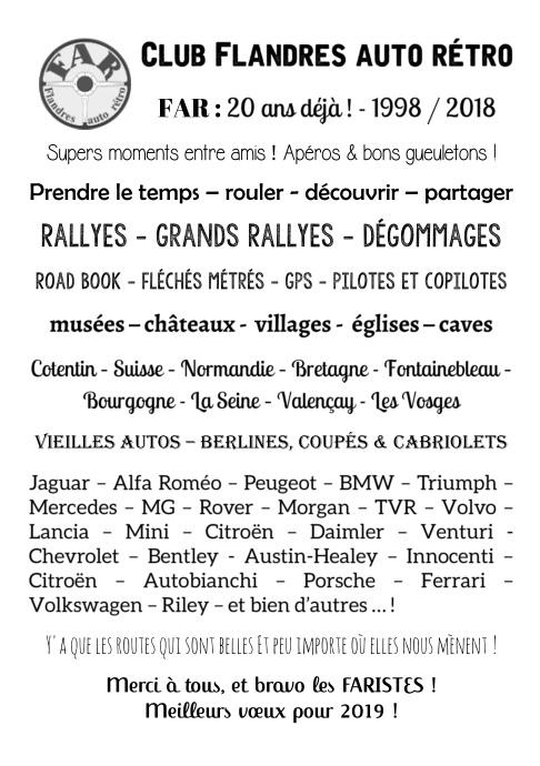 Club Flandres auto rétro poster
